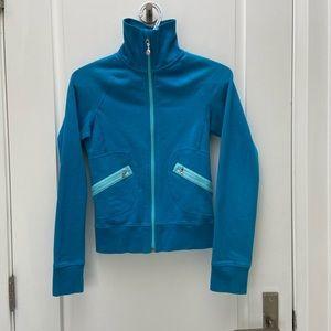 Lululemon blue zip up sweater size 4